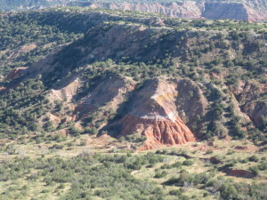 Palo Duro Canyon view from the rim.
