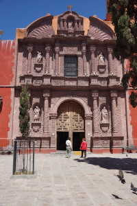 Pink Sandstone church in San Miguel de Allende