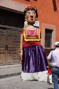 Effige with Skull Earrings. San Miguel de Allende