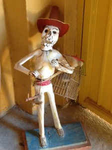 Skeleton in Mexican Folk Art. San Miguel de Allende