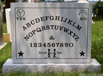 Elijah Bond's Ouija Board Head stone