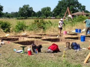 Excavation at Spiro Mounds