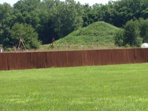 """Craig Mound"" at the Spiro Mounds Archeological Center"