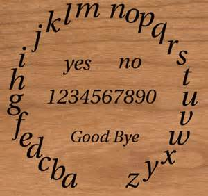 Ouija Board with circular alphabet