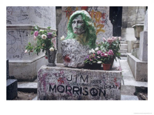 Jim Morrison's grave at Pere Lachaise Cemetery