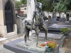 Surrealistic monument at Montparnasse Cemetery