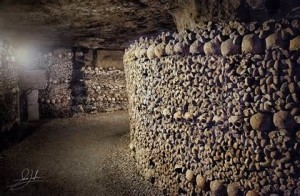 Crypt in the quarries below Paris.