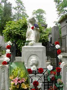 Chopin's grave at Pere Lechaise cemetery