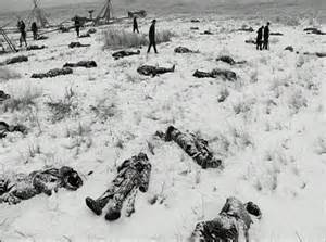 Aftermath of Wounded Knee Massacre.