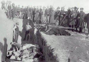Mass Grave for Lakota  massacred at Wounded Knee
